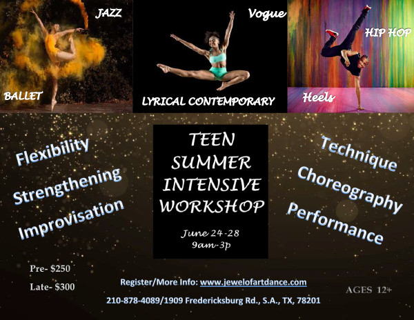 2019 Teen Summer Workshop - san antonio dance classes